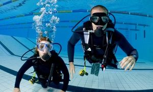 Groupon - Scuba-DivingCoursefor One, Two, or Four at Aquarius Scuba Diving Centre (Up to 57% Off)  in Cooper Mills Plaza. Groupon deal price: C$50