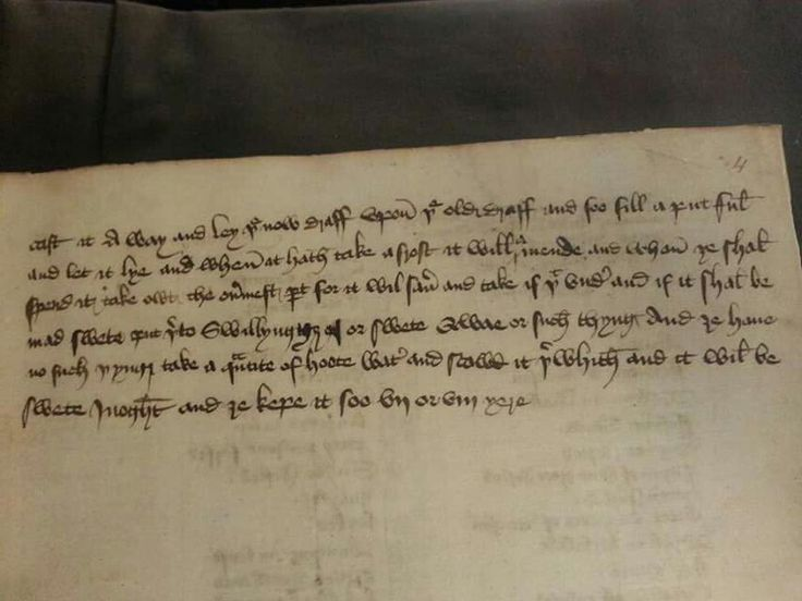 "A 15th century recipe for Banbury Cheese ""To make banbery chese"". From British Library Sloane MS 1201. Page 2."