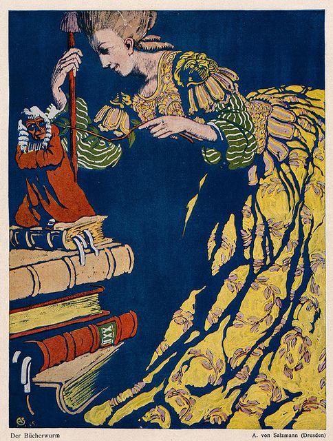 A-von-Salzmann,-Der-Bucherwurm,-1916-Jugend-, via Flickr.