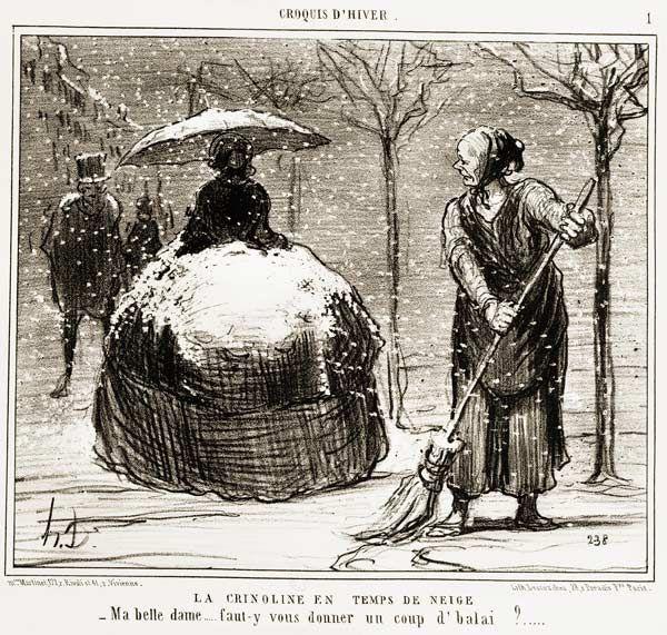 La crinoline en temps de neige - Honoré Daumier (French, 1808-1879)
