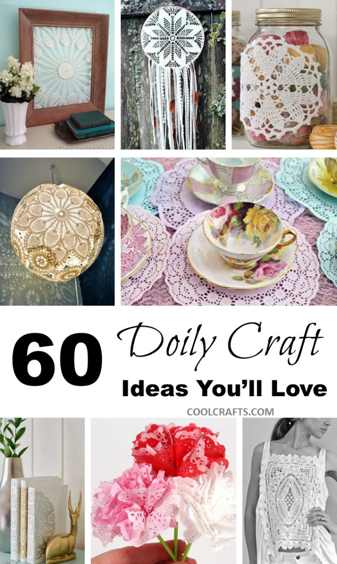 60 Diy Fabric Amp Paper Doily Crafts Craft Ideas Paper