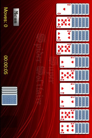 The Super Spider Solitaire card game for iPad is the king of all solitaire games. You must be skilled at manipulating the cards to play this game. Spider Solitaire is similar to other types of solitaire (klondike, patience, etc.)   This solitaire uses two decks (104 cards).