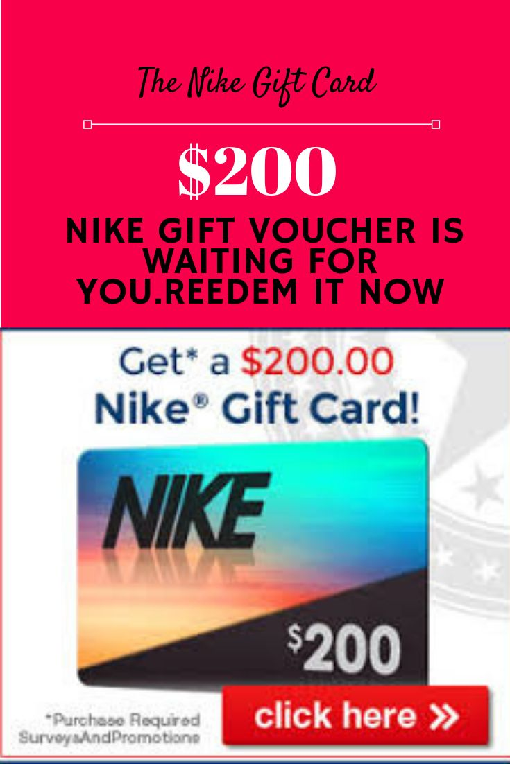 Get your 200 nike gift voucher free nike gift card