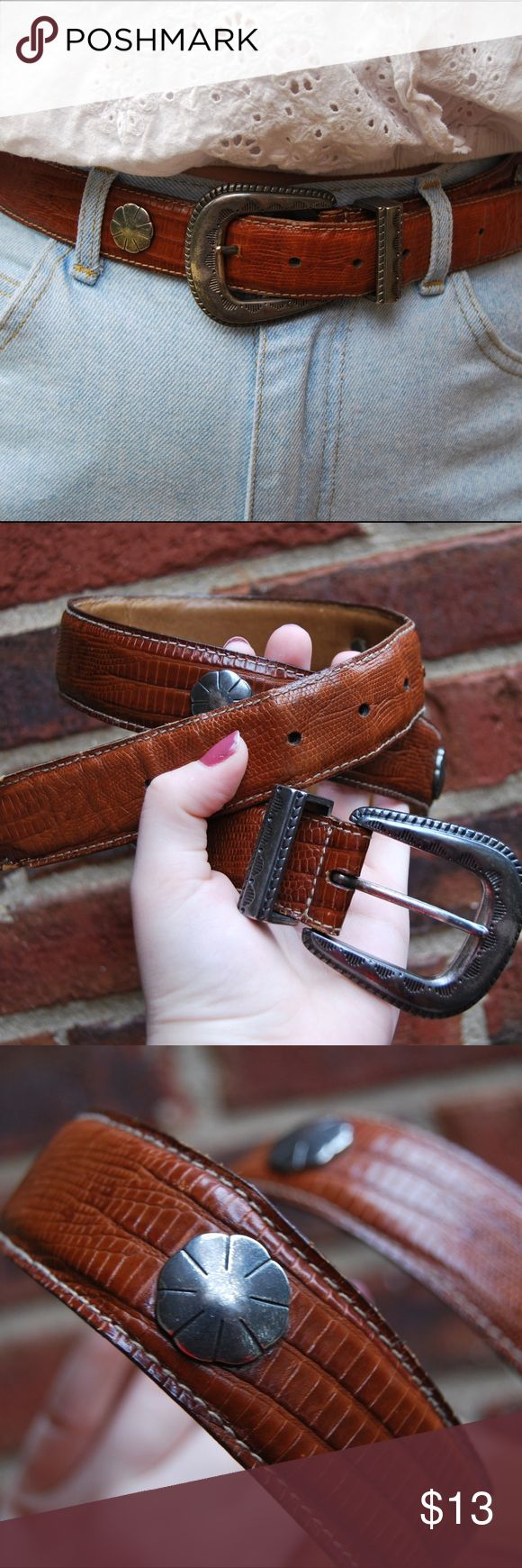 "Gap Girl Genuine leather vintage gap belt. This western style belt is super cool, and makes any outfit pop.  Size M/L, 34"" GAP Accessories Belts"