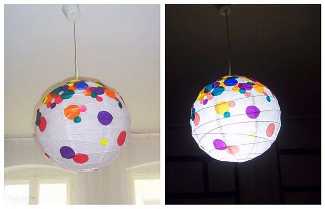 IKEA Hackers: Hundreds and Thousands Regolit lamp / circles in different sizes from the translucent paper