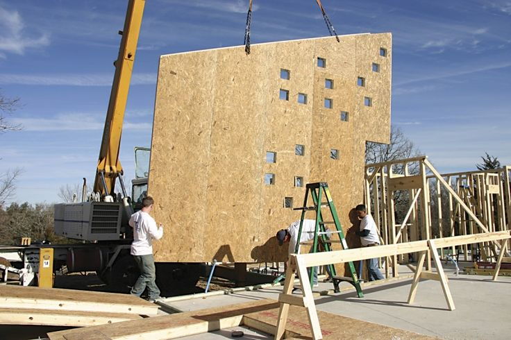 Commercial photos sips structural insulated panel for Association aide construction maison