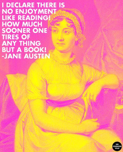 Jane Austen on the joy of reading. #quotes #inspiration #1813