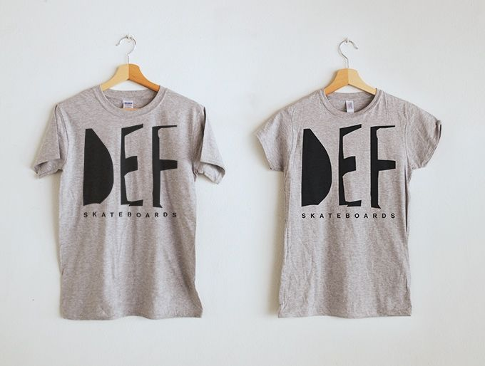 DEF Skateboards T-shirts, Milano.  Organic cotton, hand printed silkscreen print with water based ink.