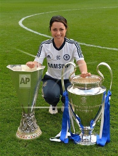 Eva Carneiro con la Champions y la Europa League