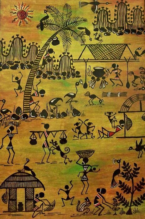 Tribals I by Ivy Sharma - Tribals I Painting - Tribals I Fine Art Prints and Posters for Sale