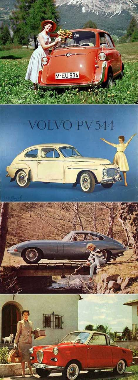 "Vintage cars.  I had to drive my dad's Volvo like the white one above.  It was red and ugly and I called it the ""pig""!"