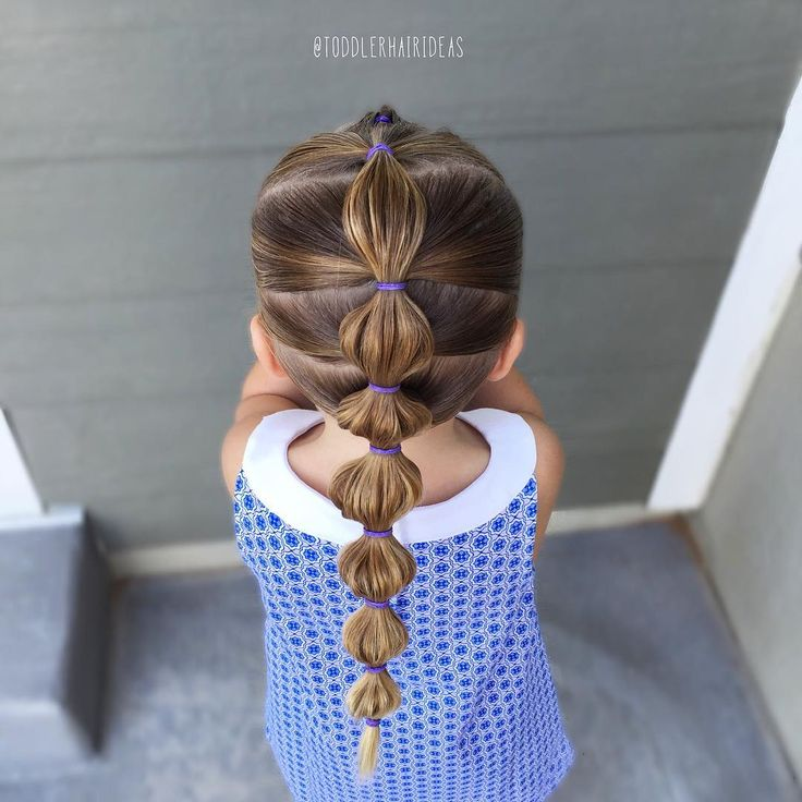 "768 tykkäystä, 19 kommenttia - Cami  Toddler Hair Ideas (@toddlerhairideas) Instagramissa: ""Cute and simple bubble pony tail! You can't tell, but I did a little topsy flip in the very front!…"""