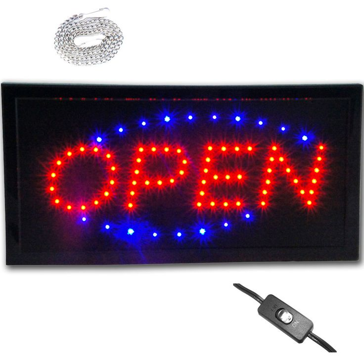 """Bright 19x10"""" LED Store Shop Restaurant Open Sign Animated neon Display Lights #Zh"""