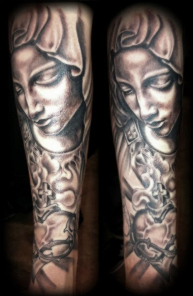 Virgin Mary Sleeve - Daily Dose Of Tattoos