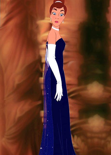 Filme Anastasia Fox , vestido azul figurino
