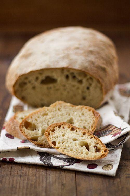 Pane senza impasto a lievitazione naturale