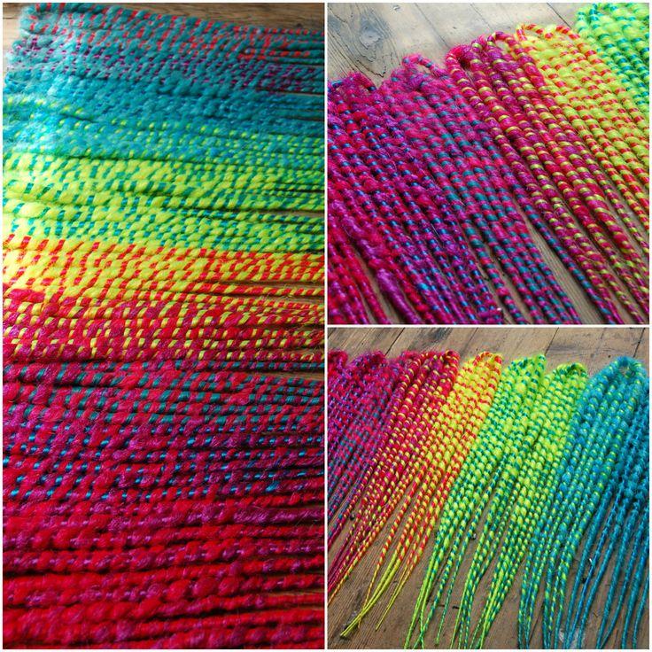 Zaahn Dreads rainbow bright double ended dread kit.