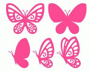 Silhouette Design Store - View Design #75300: butterflies set