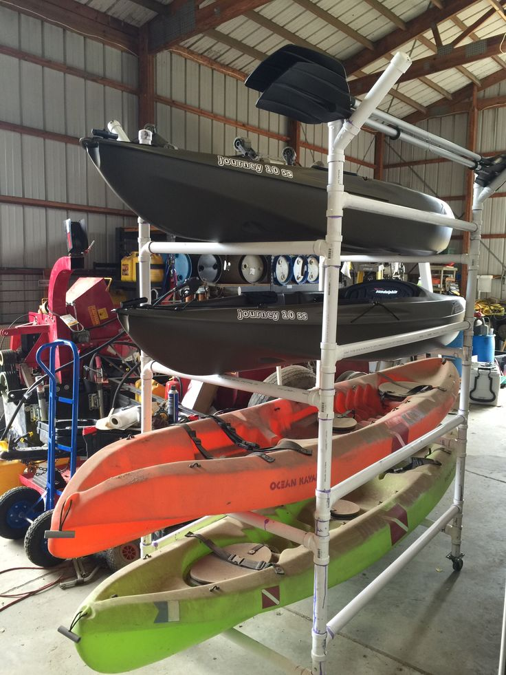 Homemade Pvc Kayak Rack Made From 1 5 Quot Schedule 40 Pvc