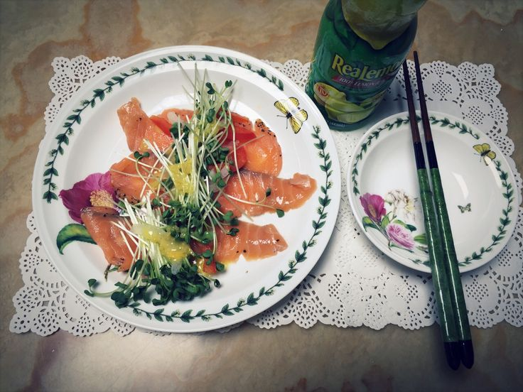 One day's salmon salad ! :)