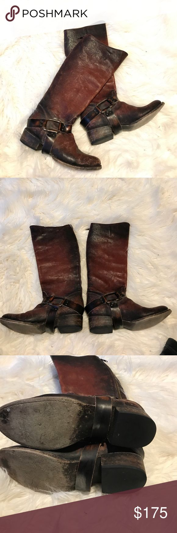 Freebird by Steven boot Distressed boots worn maybe five times they look the same as they did when I bought them. Price is firm. Color is a burgundy. Freebird by Steven Shoes