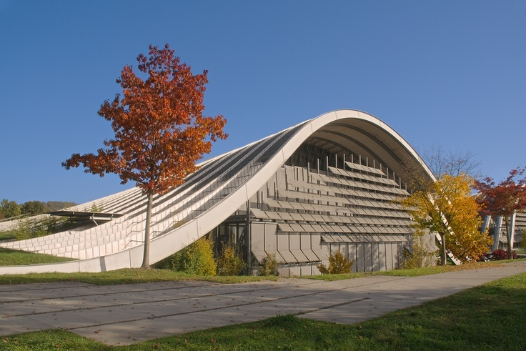 The Paul Klee Museum in Bern, Switzerland. Architect, Renzo Piano designed this museum in the form of three waves which blend into the landscape.