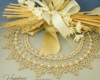 Venus necklace needle tatting necklace OOAK by Happyland87