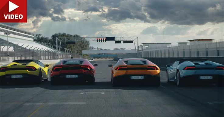 All Four Lamborghini Huracan Models Star In High-Octane Commercial #commercials #Lamborghini
