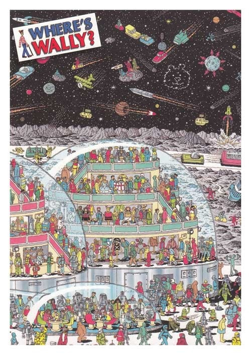 Where's Wally - Lost in the Future Greeting Card
