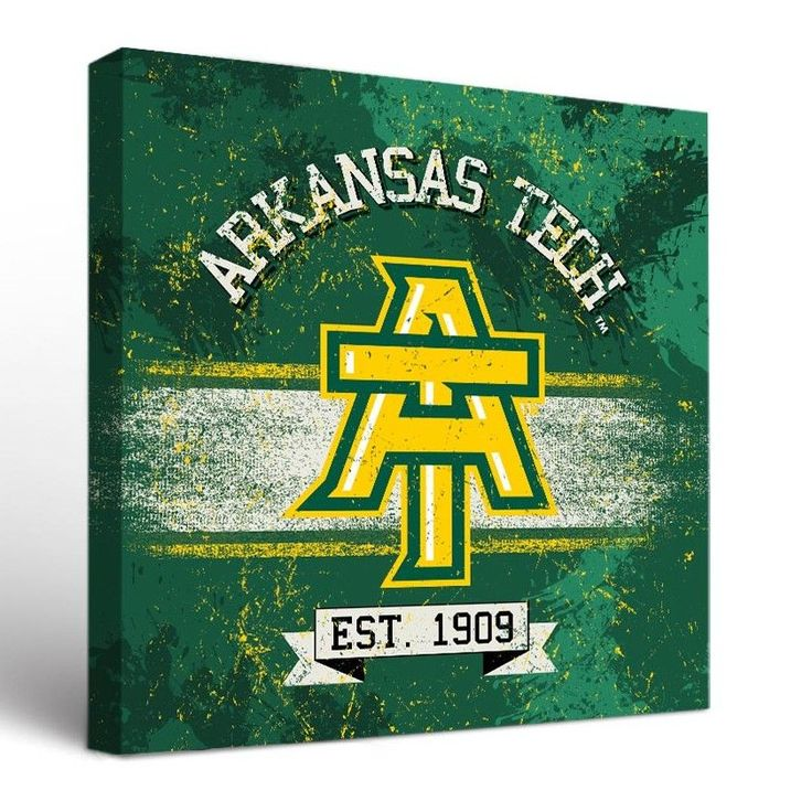 NCAA Arkansas Tech University ATU Wonder Boys Golden Suns Banner Graphic Art on Canvas