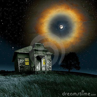 Superb hallowed moon in the starry night