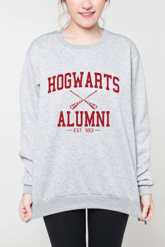 Anciens élèves de Poudlard chemise hommes femmes pull tshirt harry potter Sweat-shirt chemise cavalier tee à manches longues t-shirt rouge texte
