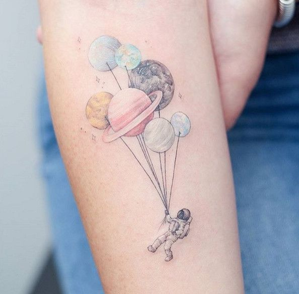 Up, Up & Away - Galactic Planet Tattoos Every Star-Gazer Needs To See - Photos
