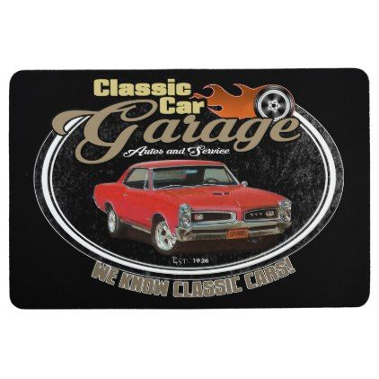 Classic Car GTO Garage Floor Mat - classic gifts gift ideas diy custom unique