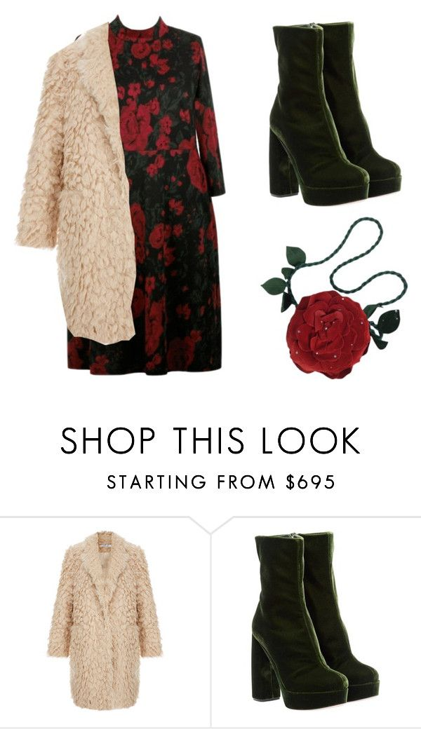 """""""roses are red"""" by koorotneva-l ❤ liked on Polyvore featuring Anna Scholz, Elizabeth and James, Miu Miu and Emanuel Ungaro"""