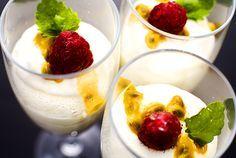 Passionsfruktsmousse med vit choklad | Köket.se