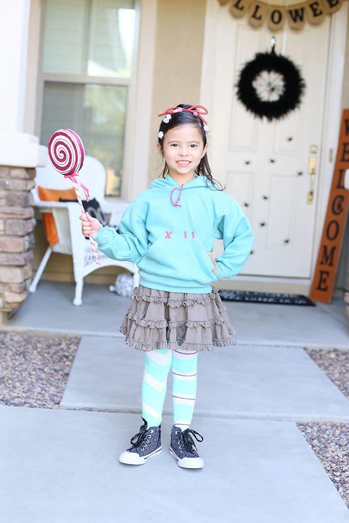 Halloween Diy Vanellope Costume From Disney Wreck It Ralph
