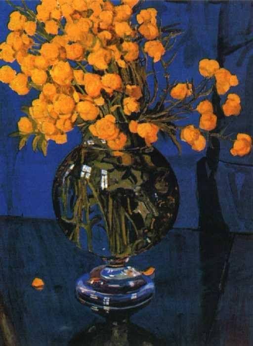 ❀ Blooming Brushwork ❀ - garden and still life flower paintings - Alexander Golovin (1863-1930)