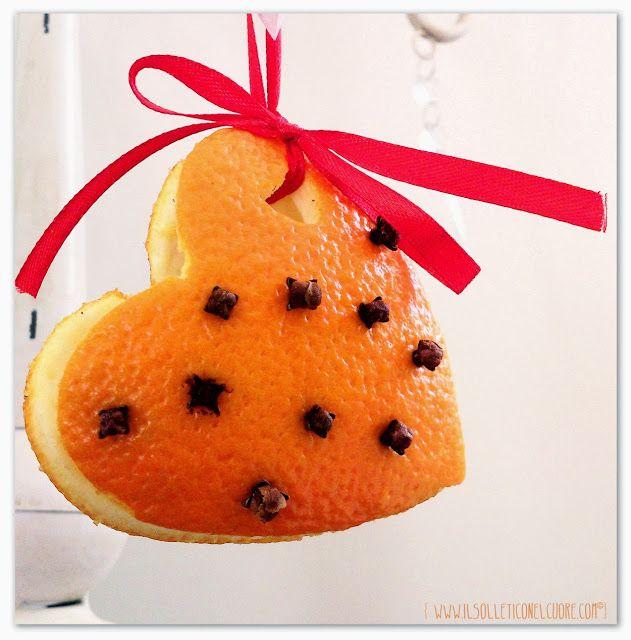 profumatore ambiente con scorze di arancia