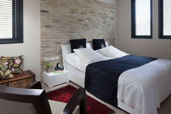 Galleria foto - Parete in mattone in camera da letto Foto 24