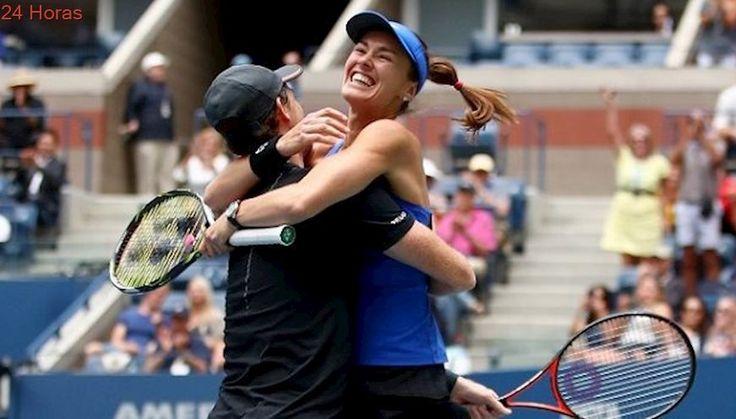 Martina Hingis se quedó con el título en dobles mixtos del US Open junto a Jamie Murray