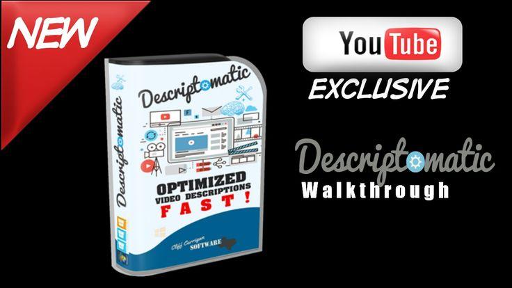 Descriptomatic review,YouTube description generator,How to write great Y...