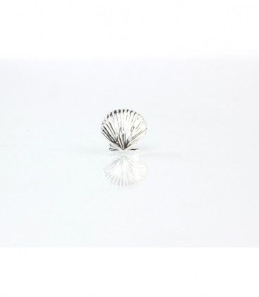 Sterling Silver Scallop Shell Pin. The Cat and the Moon