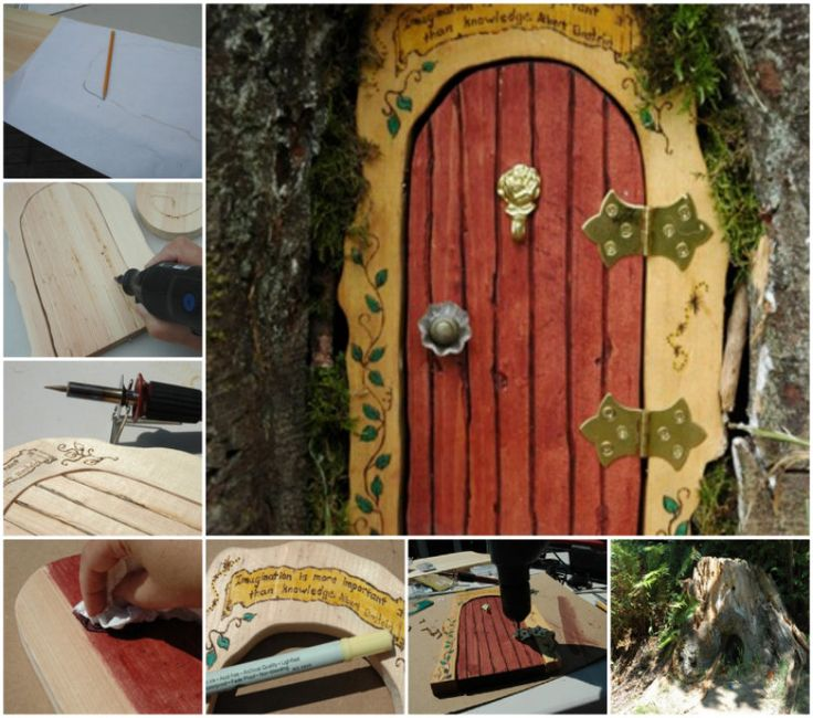 300 best images about gnome fairy house and cabin on for Homemade elf door