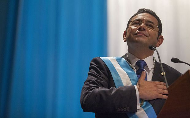 Former comedian Jimmy Morales has been inaugurated as Guatemala's new president. Jimmy Morales was elected in October after huge anti-corruption demonstrations that