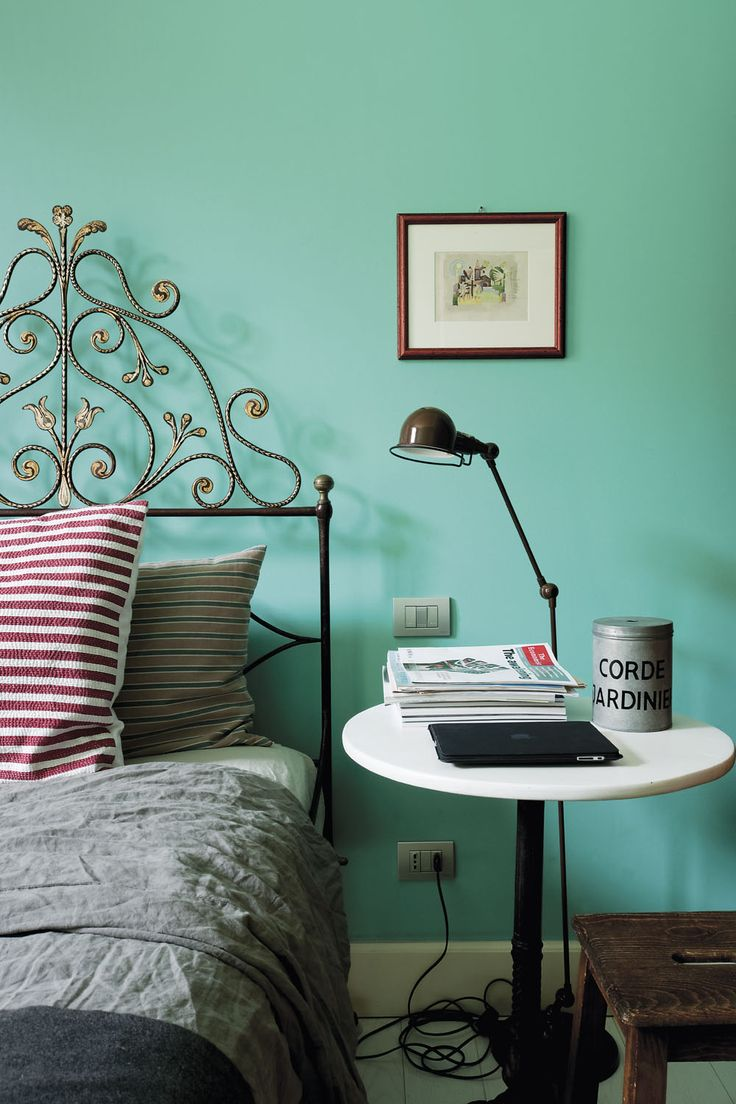 Chambre turquoise et marron for Chambre turquoise