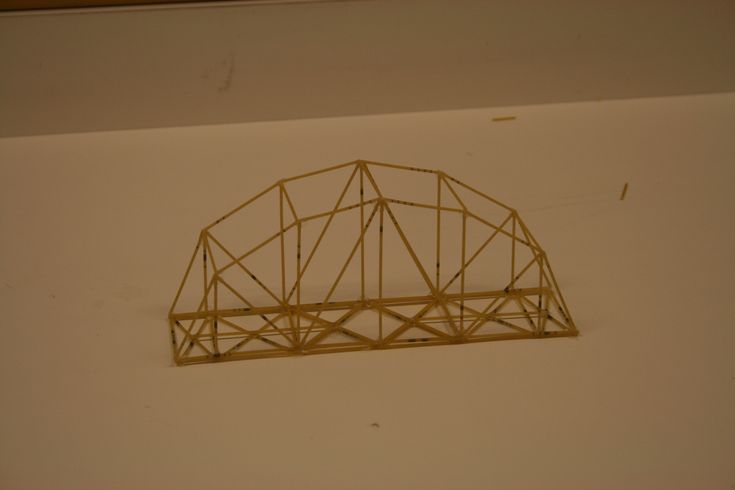 how to build a spaghetti arch bridge