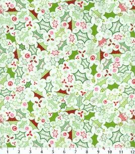 Holiday Inspirations Fabric-Heidi Grace Holly Toss : holiday fabric : fabric : Shop | Joann.com: