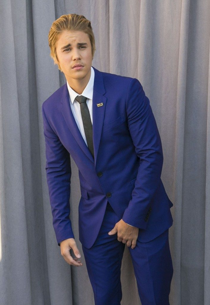 Justin Bieber Comedy Central Roast Sensually Dressed In A Full Blue Suit With Irresistible Facial Hair And Hair Color - http://oceanup.com/2015/03/14/justin-bieber-comedy-central-roast-sensually-dressed-in-a-full-blue-suit-with-irresistible-facial-hair-and-hair-color/