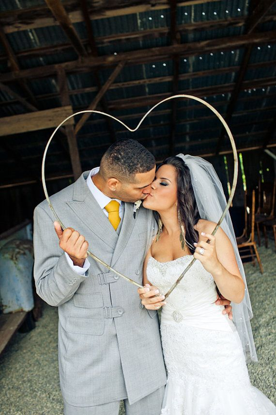 Giant Metal Heart great for wedding props